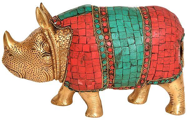 Inlaid Rhinoceros