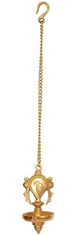 Vaishnava Conch Hanging Lamp