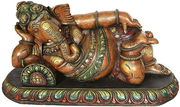His Majesty Lord Ganesha at Leisure - Large Size