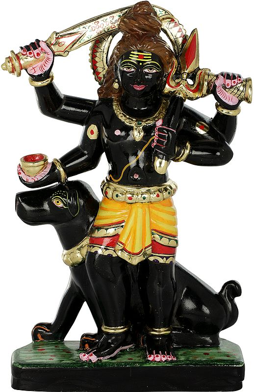 Bhairava With His Mount Shwan: Dog