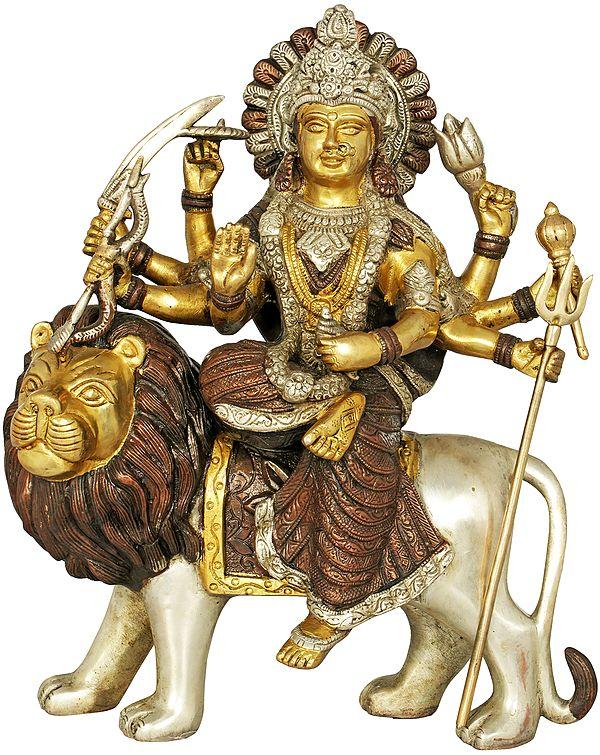 Mother Goddess Durga Seated on Lion