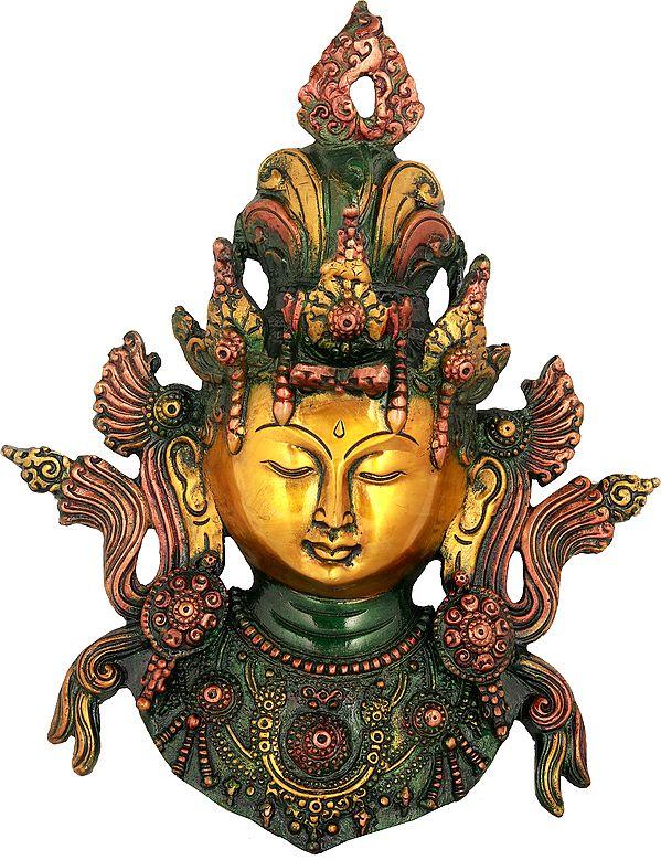 Tibetan Buddhist Goddess Tara Wall Hanging Mask