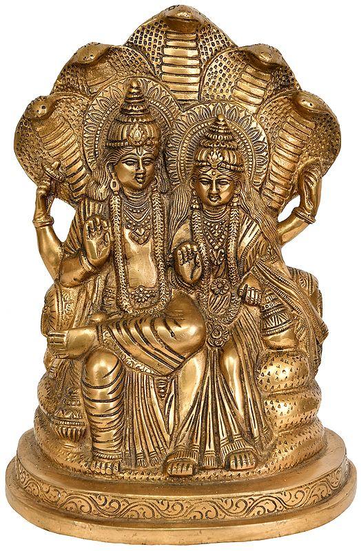 Lakshmi-Vishnu Seated on Sheshnag