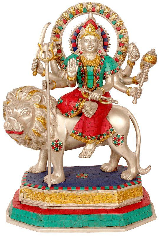 Goddess Durga  (Inlay Statue)