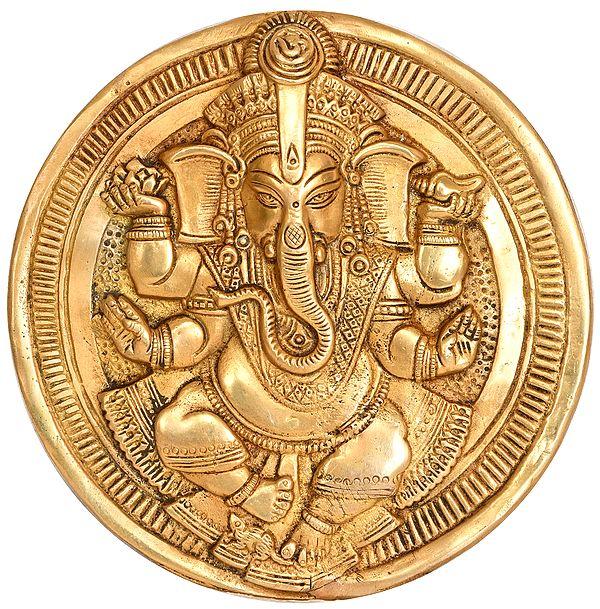 Lord Ganesha Wall Hanging Plate