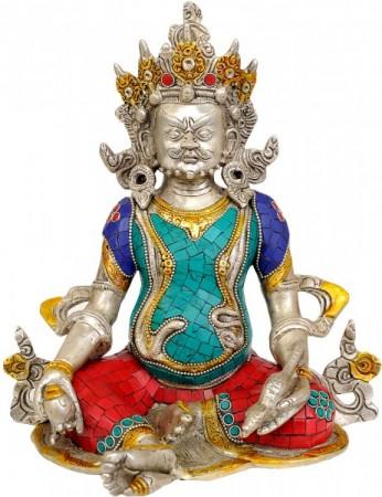 Kubera (Inlay Tibetan Buddhist Statue)