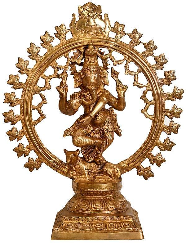 Large Size Lord Ganesha as Nataraja