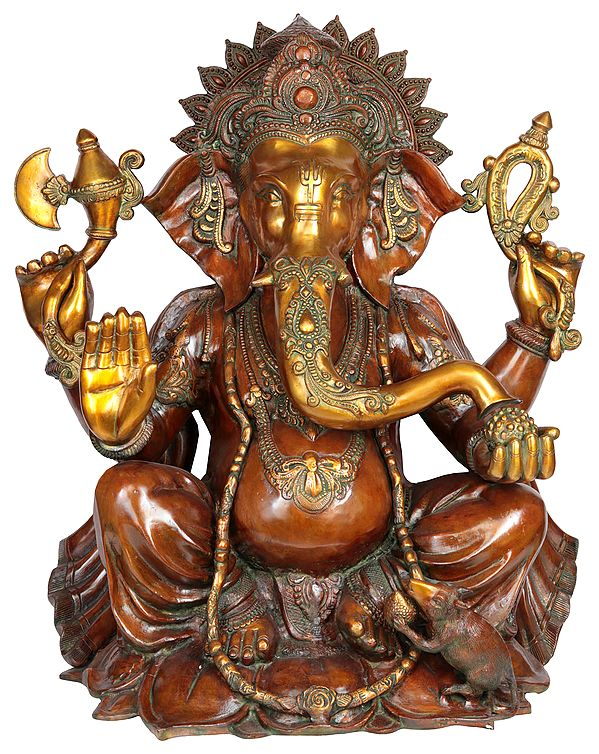 Large Size Four-Armed Ganapati