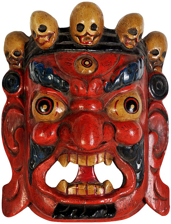 Tibetan Buddhist Mahakala Wall Hanging Mask