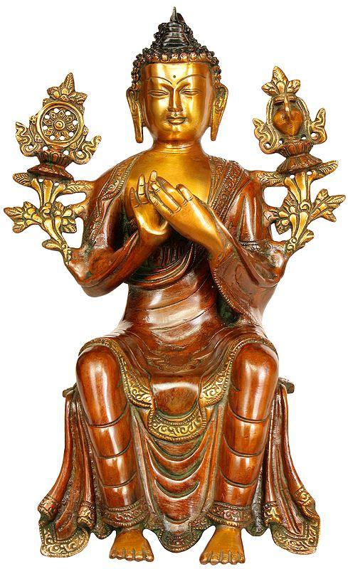 Tibetan Buddhist Deity Maitreya - The Future Buddha (To Be Seated on Edge)