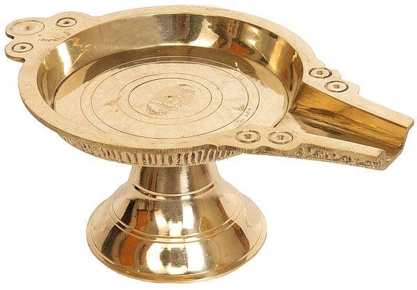 "4"" Abhishek Patra for Abhishekam | Patra for Abhisheka | Brass Statue | Handmade | Made In India"