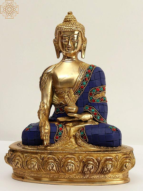 Tibetan Buddhist Lapis Buddha of Healing (Medicine Buddha)