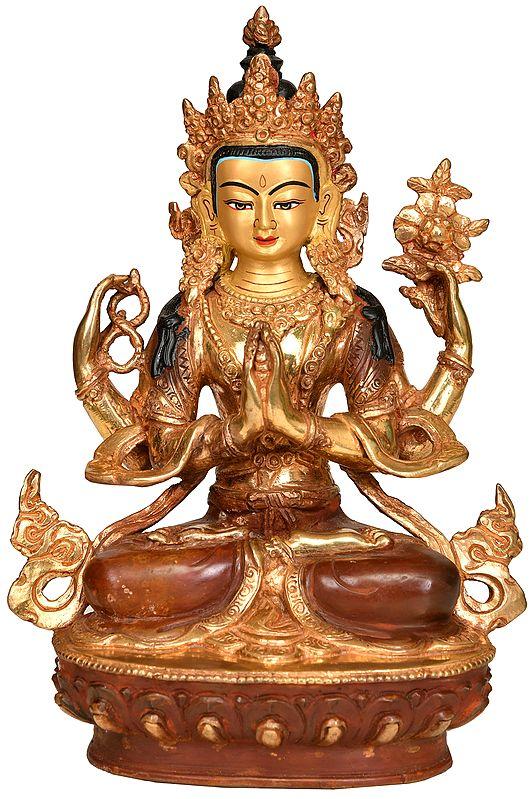 Chenrezig (Four Armed Avalokiteshvara Tibetan Buddhist Deity)