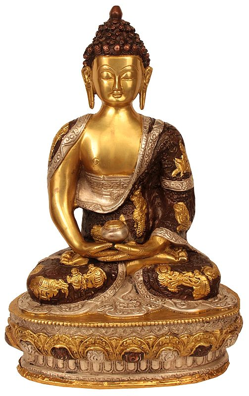The Unusual Robe Of The Seated Buddha
