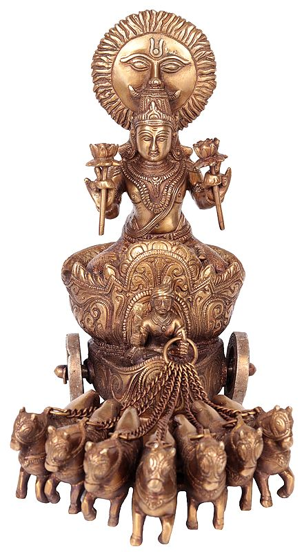 Lord Surya on His Seven Horses Chariot