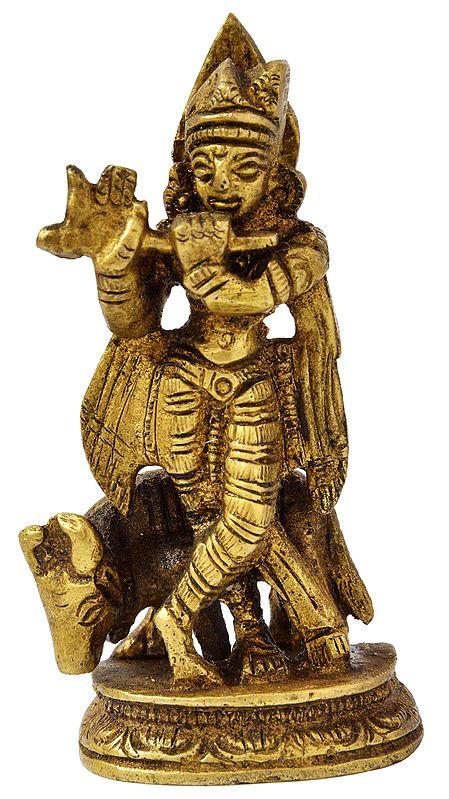Fluting Krishna (Small Statue)