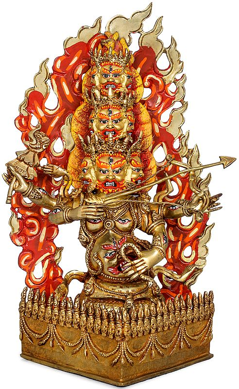 Rahula - The Deity Who Saves Us from Negative Astrological Influences (Made in Nepal Tibetan Buddhist Deity)