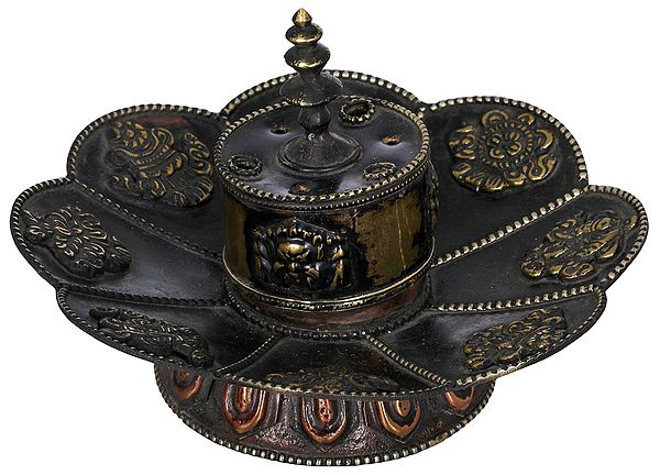 Incense Stick Holder and Burner with Ashtamangala Symbols