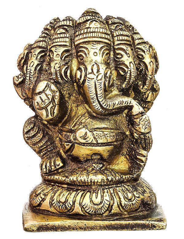 Pancha-Mukhi Ganesha (Small Statue of Five-Headed Ganapati)