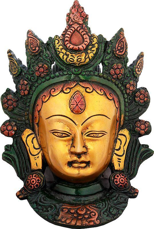 Goddess Tara Wall Hanging Mask (Tibetan Buddhist Deity)