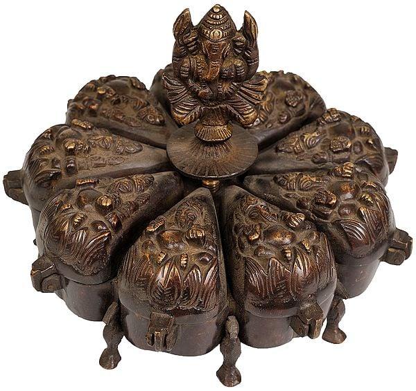 Lord Ganesha Ritual Box with Lids
