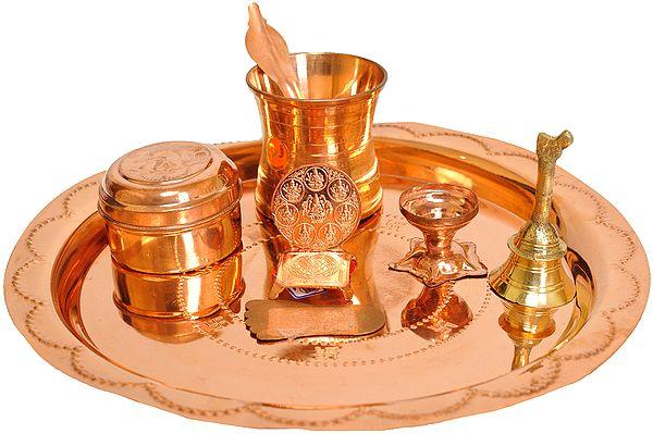 Mahavaishnava Lakshmi Pada Puja Thali