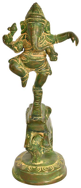 Lord Ganesha Dancing on an Elephant