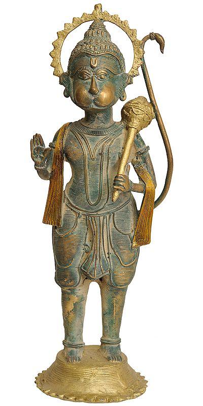 Tribal Hanuman in Abhaya Mudra