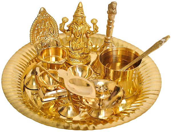 Puja Thali for Worship of Lakshmi Ji