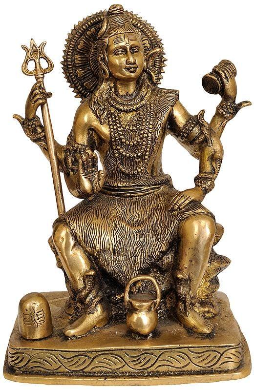 Four Armed Lord Shiva with Shiva Linga and Kamandalu