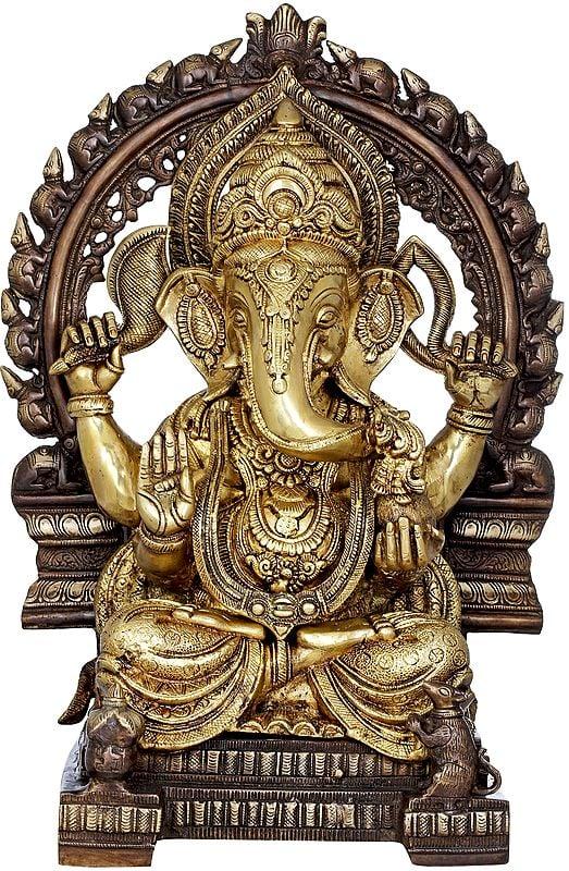 Large Sized Enthroned Ganesha