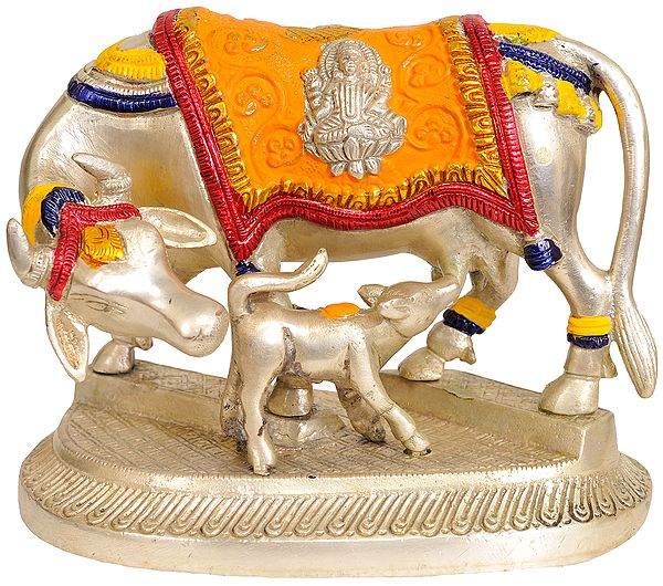 Cow and Calf (Saddle Decorated with Lakshmi and Ganesha)