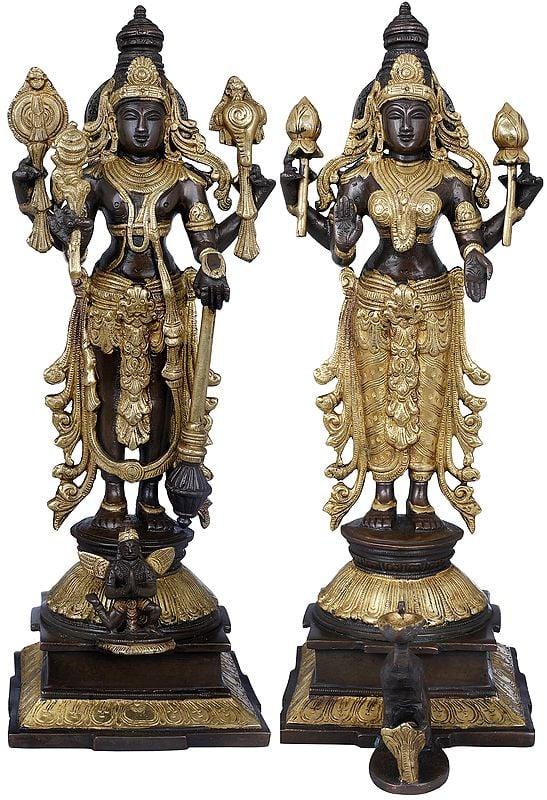 Lord Vishnu and Goddess Lakshmi
