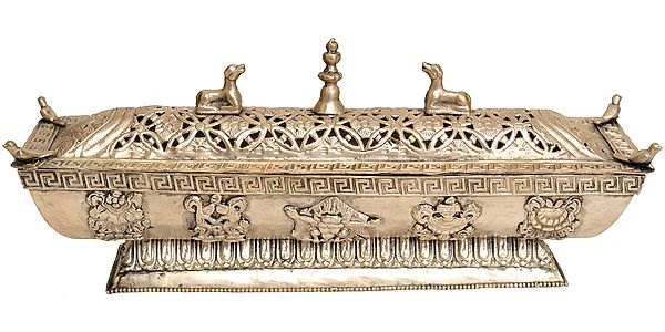 Tibetan Buddhist Incense Burner with auspicious Symbols
