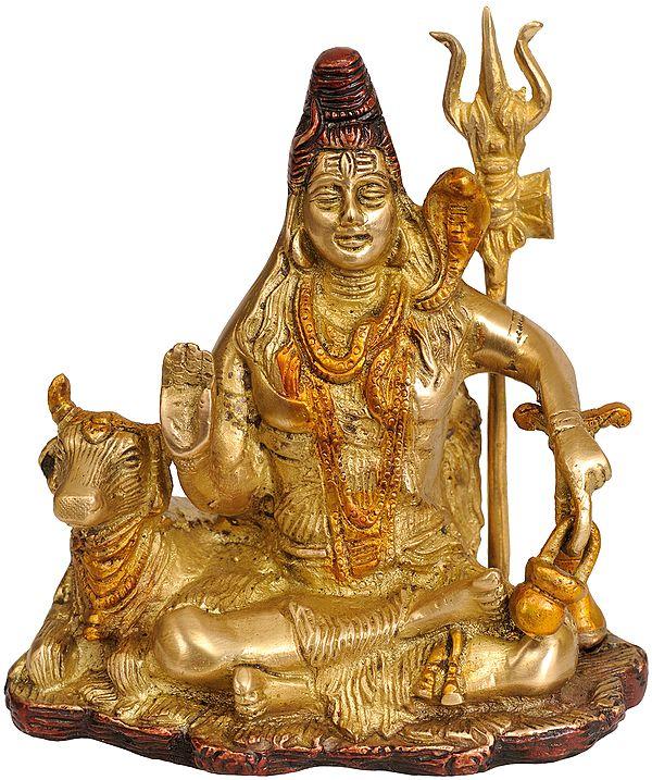 Lord Shiva with Yoga Danda