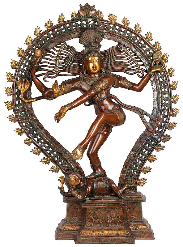 Large Nataraja in Brown Hue