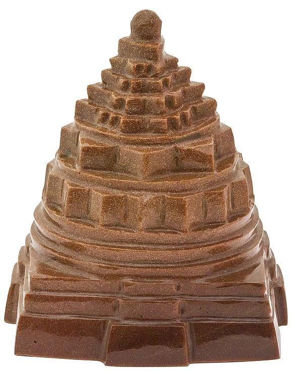 Shri Yantra (Carved in Sunstone)