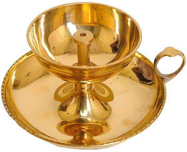 Handheld Puja Wick Lamp
