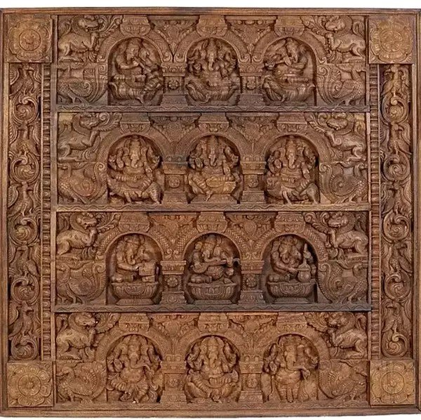 Musical Ganesha Panel with Other Aspects of Ganapati