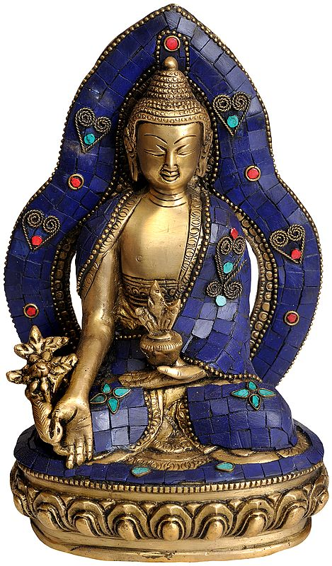 Enthroned Medicine Budha (Tibetan Buddhist Deity)