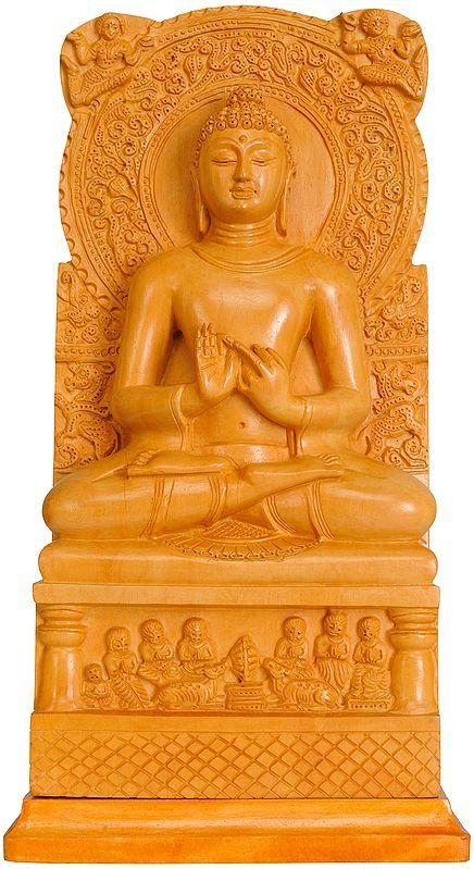 Dharma-Chakra-Pravartana – The Wheel of Law Set in Motion