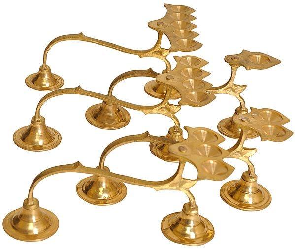 Handheld Aarti Lamp (set of Five)