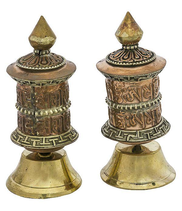 Pair of Prayer Wheel (Tibetan Buddhist)