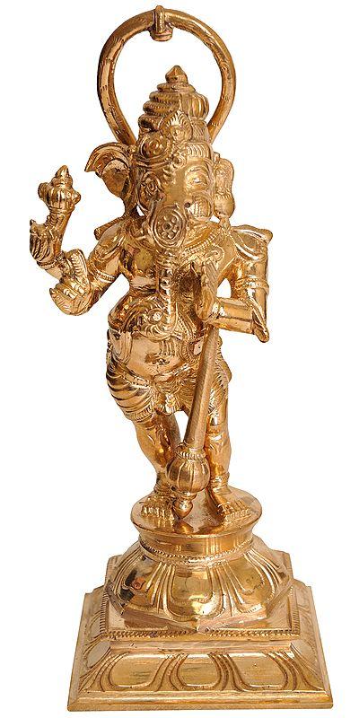 Composite Image of Shri Ganesha and Hanuman Ji