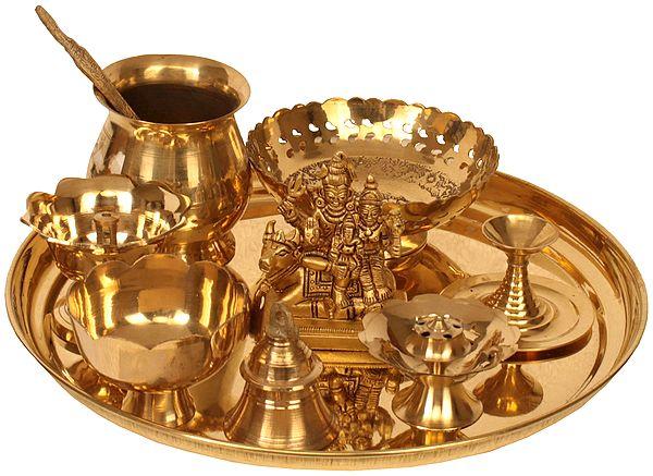 Lord Shiva Puja Thali