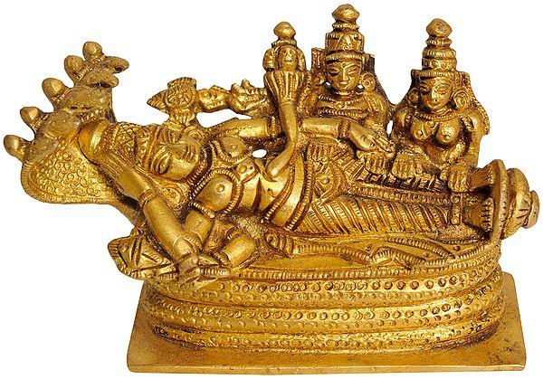 Sheshshayi Vishnu with Lakshmi and BhuDevi