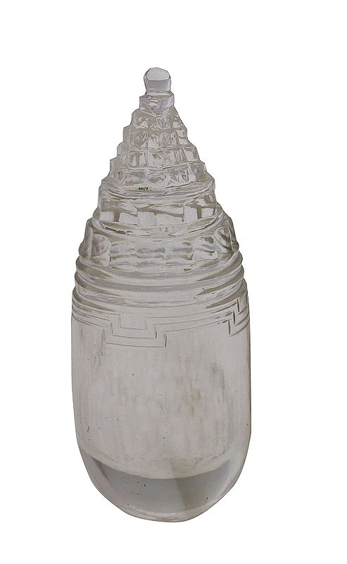 Shri Yantra with Linga (Carved in Crystal)
