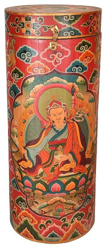 Made in Nepal Large Size Thangka Box with Image of Padmasambhava (Tibetan Buddhist)