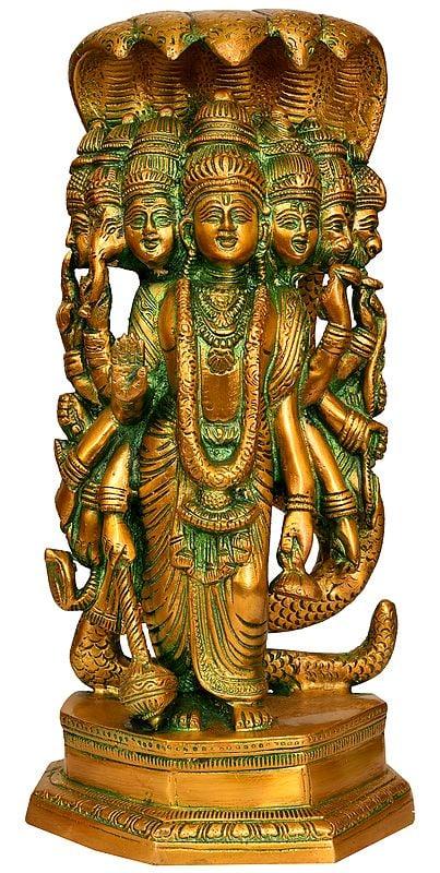 Lord Vishnu in His Cosmic Avatar