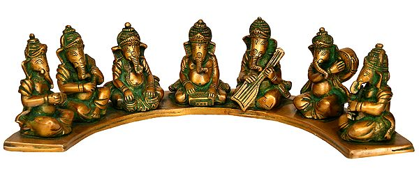 Seven Musical Ganesha